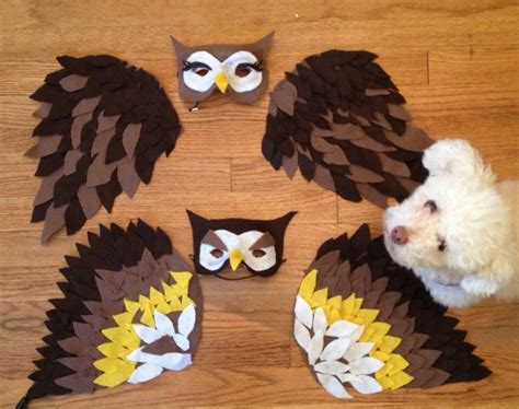 How To Make Paper Wings For A Costume - how to make owl wings for costume crafty