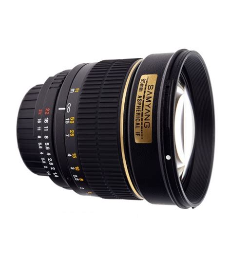 Lensa Canon Samyang samyang for canon 85mm f 1 4 aspherical if mc