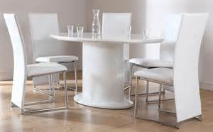 monaco white high gloss oval dining table and 6 chairs set