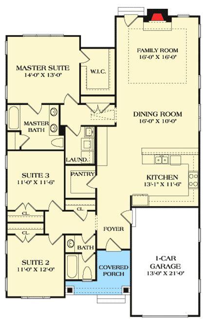 starter home floor plans craftsman starter home plan 17738lv architectural