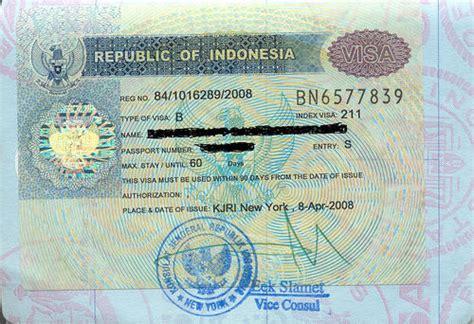indonesia visa guide  tourist visa business visa