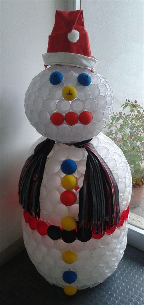 pupazzo di neve fatto con bicchieri di plastica 301 moved permanently