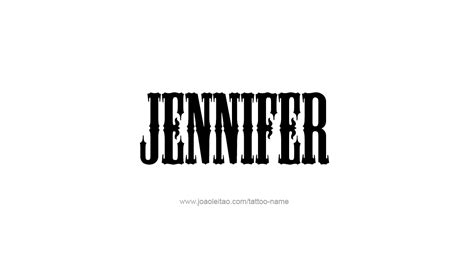 jennifer name tattoo designs design name 10 png