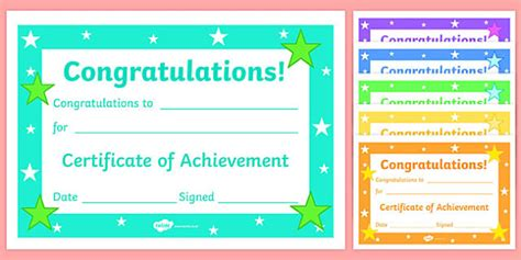 reward certificate templates editable reward certificates for primary classes