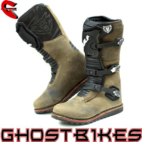 leather motocross boots wulf trials mx road enduro wulfsport motocross bike