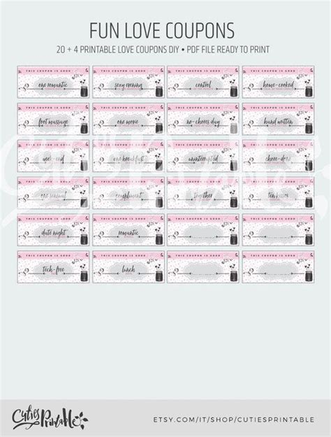 printable valentines day love coupons  funny coupons diy
