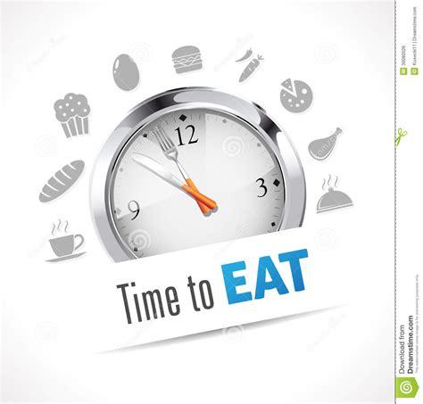 imagenes graciosas hora de comer hora de comer el cron 243 metro ilustraci 243 n del vector