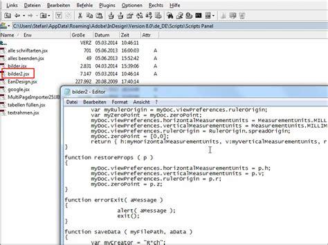 Indesign Jsx Tutorial | indesign bild metadaten exportieren indesign tutorials de