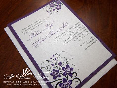 Purple and Silver Wedding Invitation   A Vibrant Wedding Web Blog