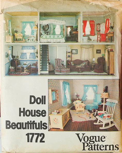 sewing pattern dolls house sew a doll house vogue 1772 craft sewing pattern uncut