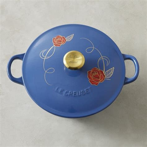 beauty and the beast le creuset williams sonoma debuts limited edition disney s beauty and