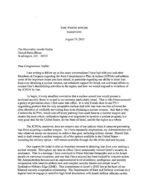 Whitehouse Petition Iran Letter President Obama S Letter On Countering Iran