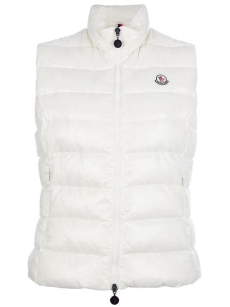 White Quilted Vest by 2013 New Moncler Ghany Quilted Womens Vest White