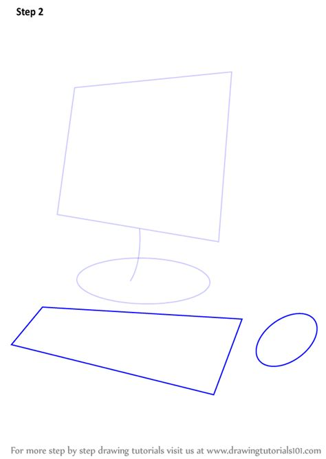 drawing on computer learn how to draw a computer for computers step by