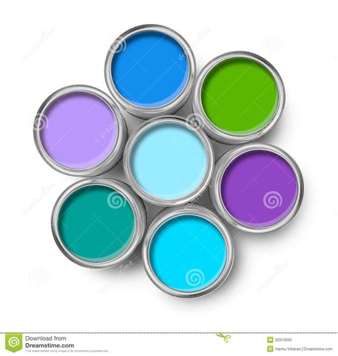 cool paint colors paint cans cool colors palette stock photo image 20310550