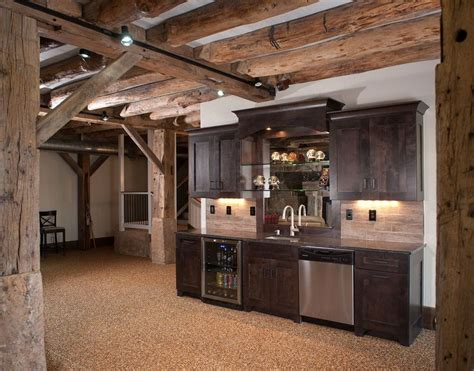 rustic basement ideas rustic basement bar home decorating pinterest