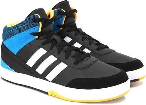 Adidas Neo St Mid Black White Blue Yellow Original adidas neo park st kflip mid mid ankle sneakers buy cblack ftwwht sogold color adidas neo park