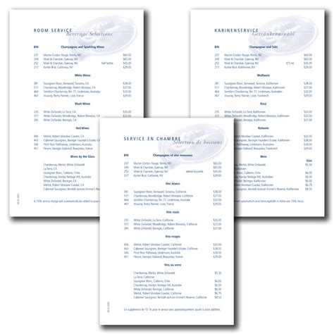 royal caribbean room service print production translations by ricardo cordoba at coroflot