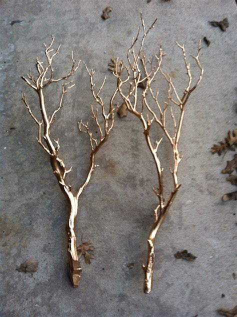 Lighted Tree Branches Home Decor by Gold Branch Diy Via Pop Sugar