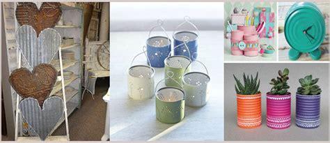 decorar latas papel latas de metal y hojalata para decorar la casa de