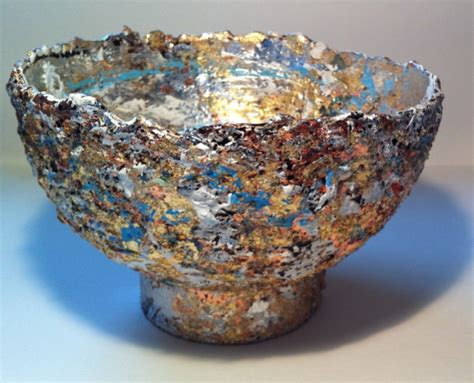 Paper Mache Bowls - hilary bravo tutorial step by step one way to make a