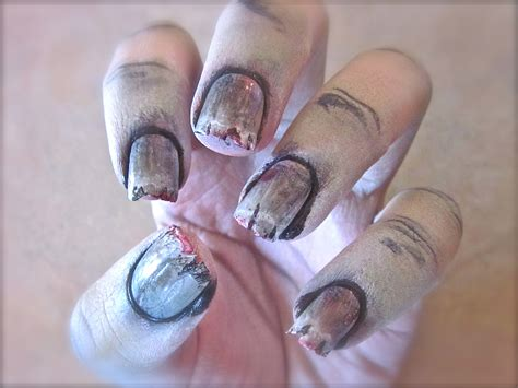 zombie nails tutorial zombie nail art tutorial