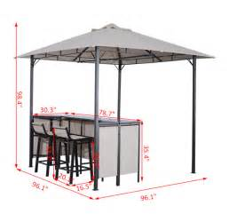 Gazebo With Bar Table Outsunny Outdoor Bar Table Set Cloth Canopy 2 Chairs Patio Backyard Furniture Ebay