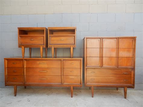 vintage mid century modern bedroom furniture sets sale