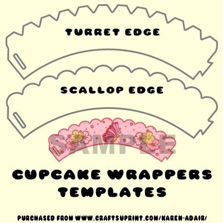 cupcake wrappers templates cup226121 168 craftsuprint