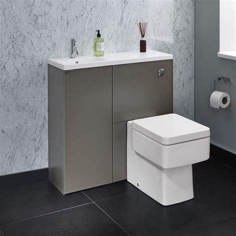 Bathstore Bathroom Accessories Myplan Slimline Mini Unit With Basin Wc Unit And Cupboard Left Lava Bathstore