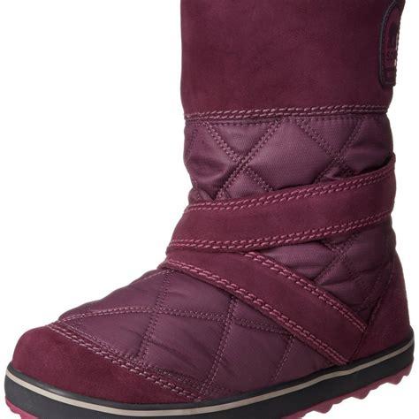 sorel snow boots sorel glacy slip on snow boot top heels deals