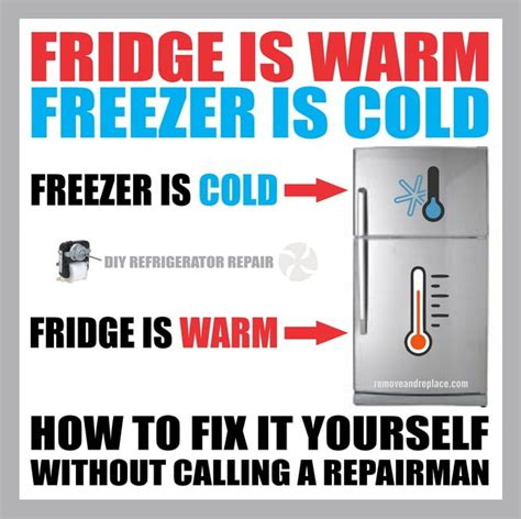 how cold is cold for a fridge is warm freezer is cold how to fix removeandreplace