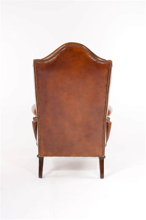 leather wingback armchair superb antique walnut leather wingback armchair mid 19th
