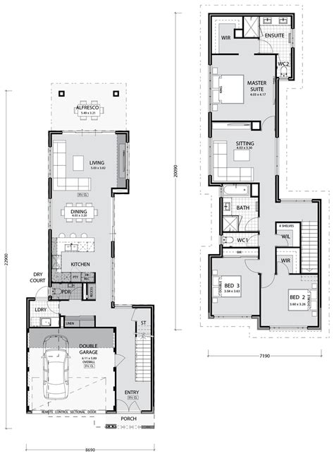 narrow lot home designs narrow lot homes and house plans in perth pindan homes