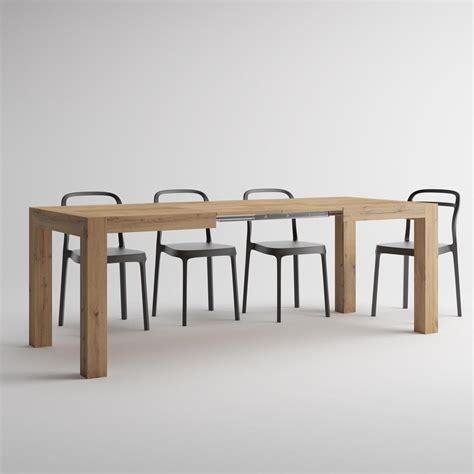 tavoli rovere tavolo allungabile moderno iacopo rovere rustico