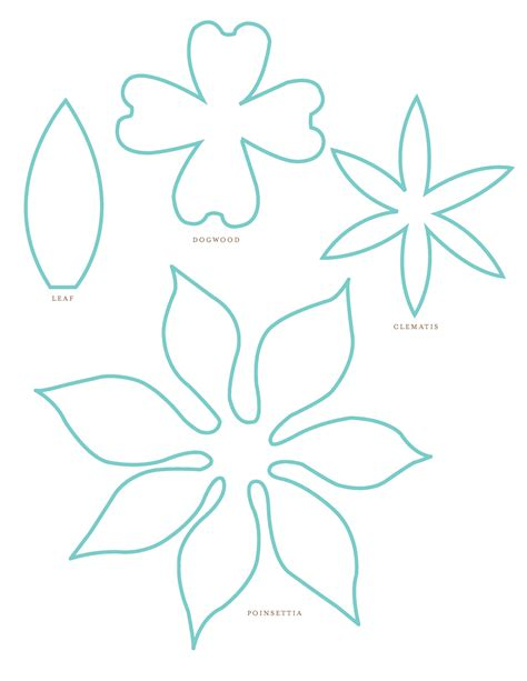 flower templates for paper flowers paper flower patterns clipart best