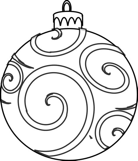 Coloring Pages For Ornaments by Colour And Design Your Own Ornaments Printables