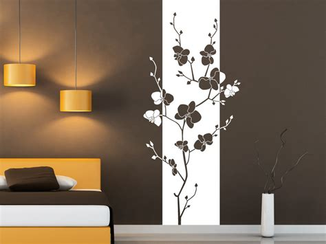 bl 252 ten banner orchidee wandbanner wandtattoo net - Orchidee Im Schlafzimmer