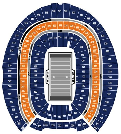 denver broncos stadium seating chart 3d seating denver broncos tickets