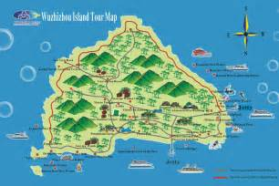 islands map wuzhizhou island maps