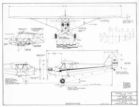 J Drawing Size by Drawing Paul Matt Piper J3 Cub Rc Sport Flyer Store