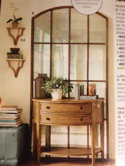 foyer mirrors large mirror small console table home