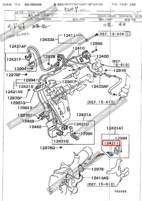 mitsubishi oem parts diagram twy trading mitsubishi genuine parts diagram evo 7