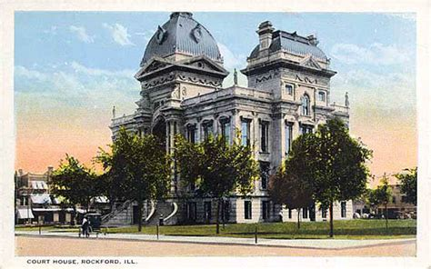 Winnebago Court House by Postcards From Winnebago County Illinois