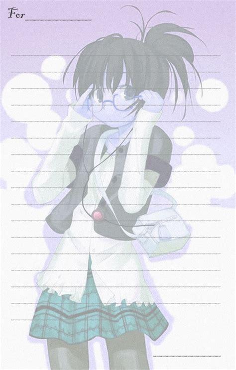 Letter Anime Anime Paper For Letters By Lara On Deviantart