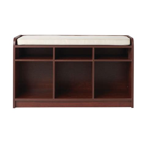 cubby bench with cushion home decorators collection 3 cubby cushion storage bench
