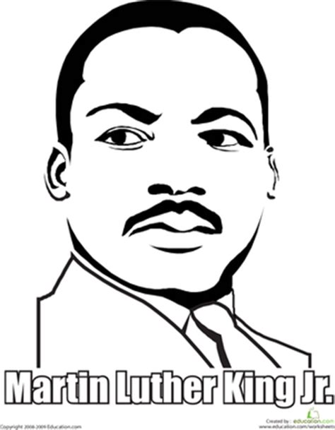 printable coloring page of martin luther king jr martin luther king jr worksheet education com