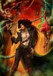 Cowboy Wall Murals steampunk fantasy art hero character urban pirate rouge