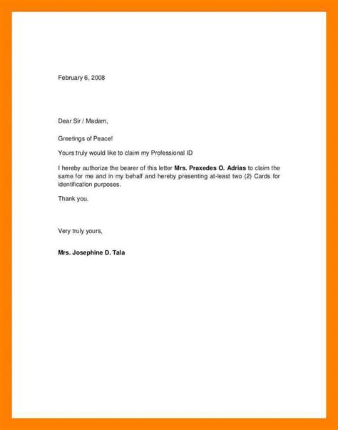 authorization letter format for hearing beautiful sle authorization letter cover letter exles