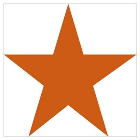 Five Pointed Burnt Orange Star Wall Art Poster